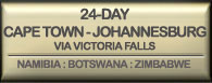 Drifters 24 day Cape Town to Johannesburg via Victoria Falls