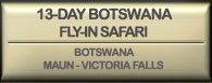 Drifters 13 day Botswana flly in safari